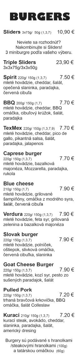 Spirit Žilina - burger v žiline - Burgre.sk